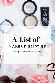A List of Makeup Empties. Products I've hit pan on- Princess Miiaa | makeup review | makeup empties | product reviews | makeup blog | beauty blog | beauty blogger |