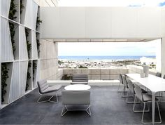 Layers of White   Penthouse Located in Tel Aviv white monochromatic terrace
