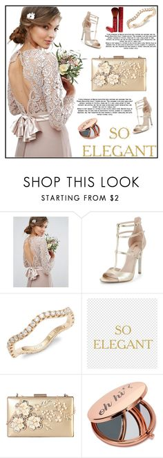 """Wedding Dress"" by mahiiraa ❤ liked on Polyvore featuring TFNC, Carvela, Kwiat, Rimen & Co. and Miss Selfridge"