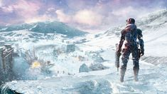 General 1920x1080 Lost Planet video games concept art snow winter weapon