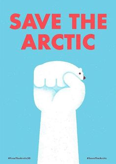 I love how this poster is so simple but has a big message about global warming. I love the illustration of the polar bear in a fist form. I also like how because of the red text on blue background it catches your eye. This design targets people that are into the animal humane society.
