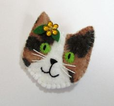 Your place to buy and sell all things handmade Dyi Crafts, Sewing Crafts, Sewing Projects, Felt Christmas Ornaments, Christmas Crafts, Felt Birds, Felt Cat, Felt Brooch, Felt Patterns
