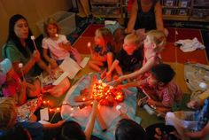Classroom campfire...could share writing or have book discussions