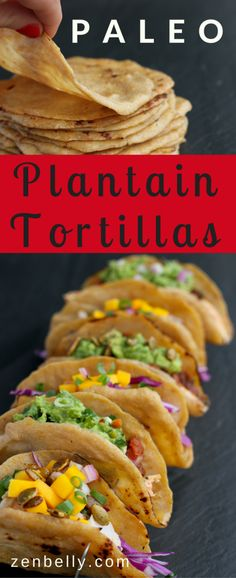 paleo tortillas made of plantains! These babies wrap, roll, and hold all of the fillings you can dream up. They're even better than homemade corn tortillas. Paleo Recipes, Mexican Food Recipes, Cooking Recipes, Paleo Whole 30, Whole 30 Recipes, Banane Plantain, Comida Boricua, Plantain Recipes, Plantain Bread