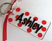 Personalized Rectangle 3 inch Acrylic Key Chain with Dots Cheerleading Gifts, Cheer Gifts, Cool Diy Projects, Vinyl Projects, Kids Cheering, Acrylic Keychains, Scrapbook Paper Crafts, Scrapbooking, Cricut Cuttlebug