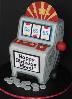 Slot Machine Birthday Cake on Cake Central