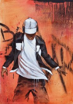 "Artiste : istraille. ""Black and whitel"", mixed media painting. #streetart #painting #art #acrylic #spray #women #dancing #dance #orange #blue #textures #istraille #contemporary #urban #graffitiart #graffiti #canvas #abstractart #peinture #artiste #artist #man #bboy #dancer #contemporain #france http://www.istraille.com/"