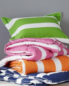 Green for the top bunk Elementary Comforter and Sham