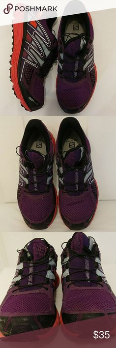 Solomon X mission 3 shoes Gently used , great condition no steans no rips , color purple, orange, gray, black Salomon Shoes Sneakers