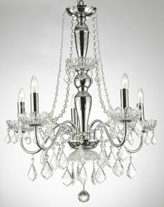 Gallery 22.5'' Chrome & Crystal Chandelier               For my dining room!