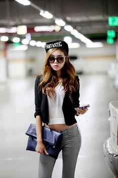 Fashion shoot in a parking structure. #ulzzang #fashions #korean