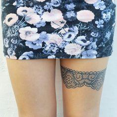 My garter tattoo ♡♡♡ v in love w it | LiciDoesHerFace