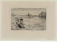 Voyage en bateau : [estampe] : Croquis à l'eau forte par Daubigny 1862