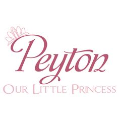 Princess Name Decal With Crown For Baby Girl by FleurishWalls, $36.95