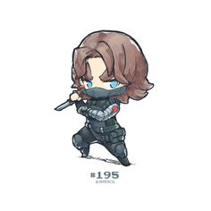 WINTER SOLDIER  #195 A6 Art Card by Jrpencil on Etsy