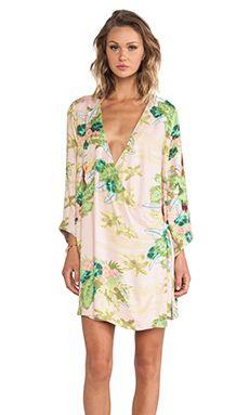 Somedays Lovin Hoax Tropical Cape Dress in Multi   REVOLVE
