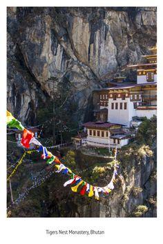 Tigers Nest Monastery Paro Valley Bhutan