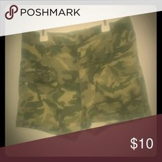 High waisted shorts 3 button fly high waisted camouflage shorts. Worn maybe 2 times. 1st Kiss Shorts Jean Shorts