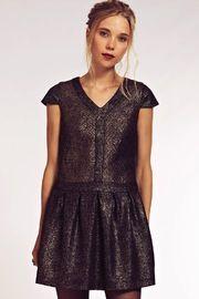 Vanessa Metallic Dress - Front cropped