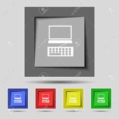 Monitor De La Computadora Y El Icono De Teclado. Definición De Botones De Colores. Ilustración Vectorial Ilustraciones Vectoriales, Clip Art Vectorizado Libre De Derechos. Pic 31696493. Monitor, Phone, Computers, Keyboard, Buttons, Icons, Blue Prints, Telephone, Mobile Phones