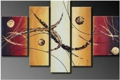 Abstract Painted Painting Decoration Unstretch Large Painting, Oil Painting On Canvas, Canvas Paintings, Abstract Paintings, Painting Art, Triptych Wall Art, Canvas Wall Art, Scrap Wood Art, Art Deco Home