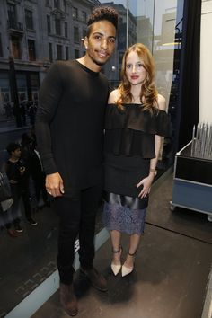 Pin for Later: This Week's Can't-Miss Celebrity Photos  Troy and Rosie Fortescue came out to French Connection during Vogue's Fashion's Night Out in London.