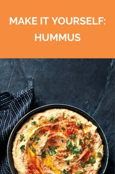 Make It Yourself: Hummus | Get the recipe for Make It Yourself: Hummus.