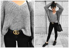 Get this look: http://lb.nu/look/8844187 More looks by Izabela: http://lb.nu/thewillowitgirl Items in this look: Gucci Buckle Belt, The Odder Side Oversized Sweater, Levi's® Superskinny Jeans, Nike Air Max Jewell, Zofia Chylak Bucket Bag, Christian Dior Abstract Sunnies
