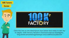 100k Factory Revolution Review - The Fact About Aidan Booth & Steve Clayton 100k Factory Revolution Review & Get Massive 100k Factory Revolution Bonus.
