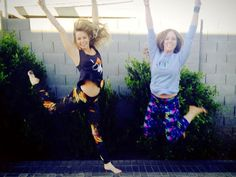 Riley and Amber jump for joy over our retail!