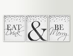 Eat Drink & Be Merry Dining Room Wall Decor by DaphneGraphics