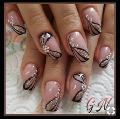 and Beautiful Nail Art Designs Flower Nail Designs, Pink Nail Designs, Beautiful Nail Designs, Beautiful Nail Art, Acrylic Nail Designs, Gorgeous Nails, Pretty Nails, Nails Design, Dusty Pink Nails