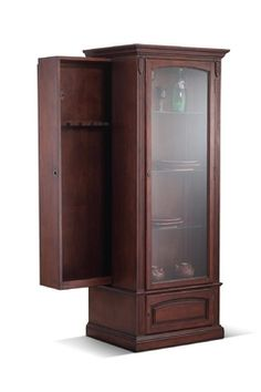 Hidden gun cabinet book case or hutch bedroom for Bedroom furniture gun safe