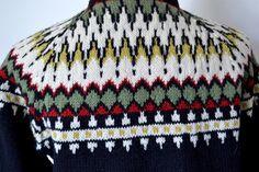 Norwegian Sweater / Black Cardigan / Ski by MinxouriVintage