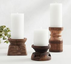 Showcasing the rustic beauty of natural mango wood, these candle holders are crafted by hand to give each one unique appeal. Wooden Candle Holders, Glass Candle Holders, Rustic Candleholders, Mirror Candle Sconce, Votive Candles, Candle Sticks, White Candles, Hurricane Candle, Candle Centerpieces