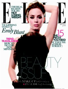 "Emily Blunt looks fab on the May 2012 cover of ""Elle UK"". Inside she says: ""I like to mix it up, but I don't care what people say about what I'm wearing on the red carpet, because there's inevitably going to be someone who hates it, even if you wear something that a lot of people like. I don't care. I know what I like and what I feel good in and I like to take a few risks. They're not huge strides."" #ETCanada http://www.elleuk.com/star-style/news/behind-the-cover-emily-blunt"