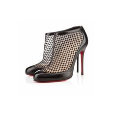 Christian Louboutin Anna May Black Dentelle (Almost just like the Caged Bootie that is sold out! All Fashion, Paris Fashion, Herve Leger Dress, Valentino Shoes, Red Bottoms, Black Ankle Boots, Shoe Brands, Jimmy Choo, Men's Shoes