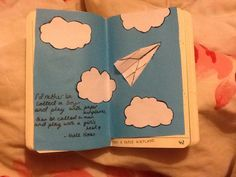 could-we-be-infinite: Finally got a One Direction quote into my Wreck This Journal aw yay