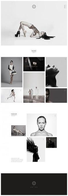Web design, minimal, layout in Web Design One