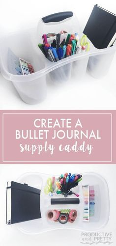 Bullet Journal Supply Caddy