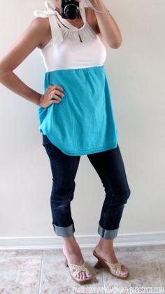 T-Shirt Refashion: Beach Ocean Tee - A Tutorial Shirt Refashion, T Shirt Diy, Diy Clothing, Sewing Clothes, Diy Mode, Look Cool, Diy Fashion, T Shirts, Outfits