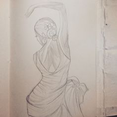Drawing of a dancer