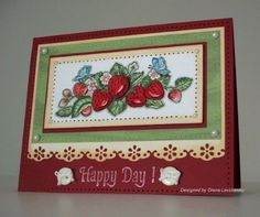 Heartfelt Creations | Strawberry Border 1