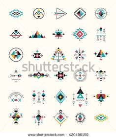 Esoteric Alchemy Boho Bohemian Sacred Geometry Tribal And Aztec Sacred Geometry Mystic Shapes Symbols StockVektorgrafik Illustration 420496150 Shutterstock Simbolos Tattoo, Body Art Tattoos, Small Tattoos, Glyph Tattoo, Shape Tattoo, Tattoo Drawings, Tribal Tattoos, Tatoos, Motifs Aztèques