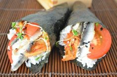 Kimchee, tomato and anchovy sushi? Yes, please!