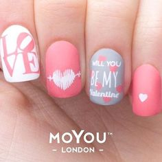 Best Valentine's Day Nails - 48 Valentine's Day Nail Designs - Fav Nail Art #nailart