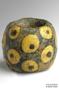 Trailed Eye Bead -  Period: Dating: 500 BC–1900 AD Origin: Undetermined, Material: Glass (all types)