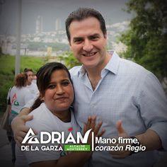 Voy a cumplir mis compromisos y propuestas. Menos promesas y palabras y más trabajo y resultados #ManoFirme #CorazónRegio Adrián de la Garza.