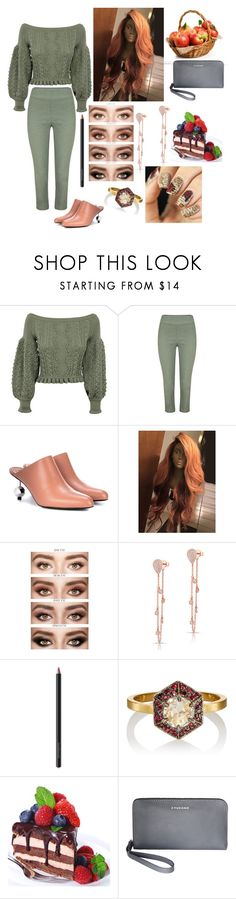 """Untitled #998"" by yasm-ina ❤ liked on Polyvore featuring Valentino, Marni, Anne Sisteron, Bare Escentuals, Cathy Waterman and Tucano"