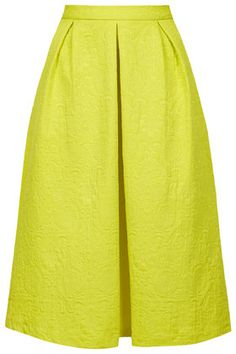 Textured Box Pleat Midi Skirt